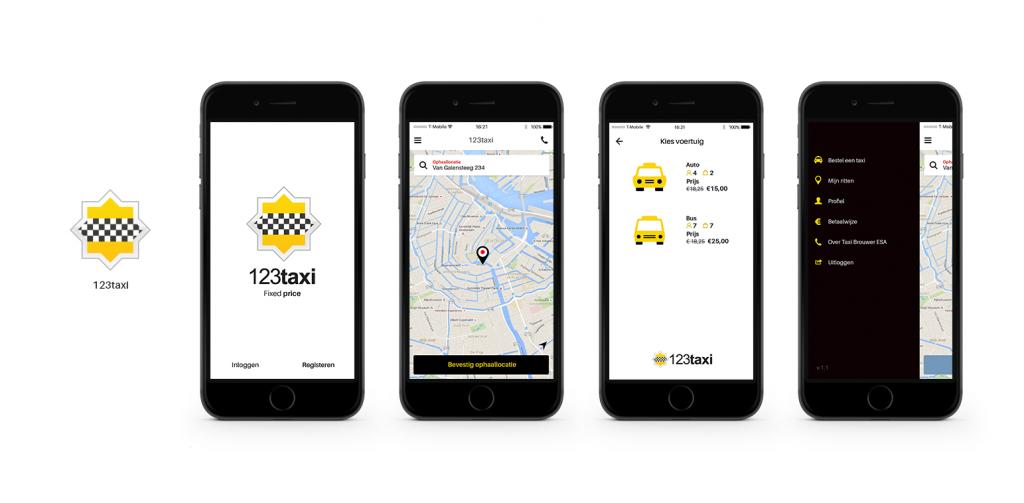 Taxi bestellen met app bij 123taxi